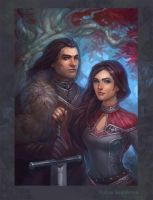 Eddard  and Lyanna by gasnikova