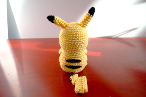 Amigurumi Pikachu Back View by FudgeNuggets