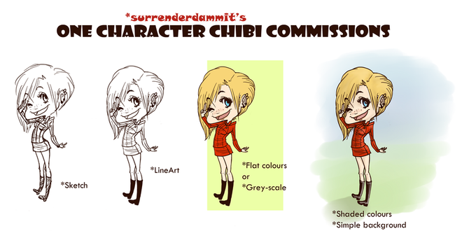 COMMISSION SHEET 1 by surrenderdammit