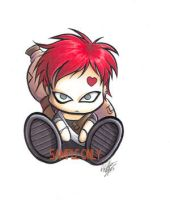 Chibi Gaara sticker design by Bee-chan