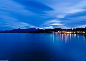 Lake Chiemsee at night by JBord