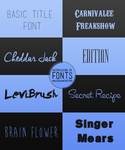 Fonts Pack by Nuuii