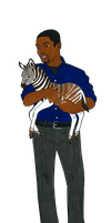 Detective Bell With A Baby Quagga by MommaCabbit