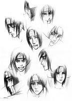 Itachi's expressions by nastiko