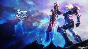 LoL - Championship Riven Wallpaper ~xRazerxD by xRazerxD