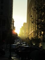 SF STREET SUNSET by CHRISwillar