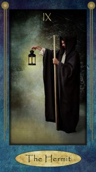 Tarot card - The Hermit by CouchyCreature