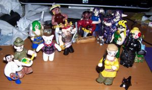 17 Girl Genius Figurines by unokitsune