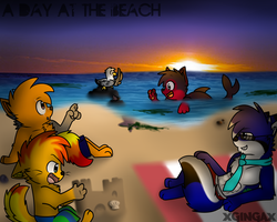 :CE: A Day At The Beach by giinga