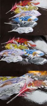 The Summer King Chronicles: Feather Paintings by Jewel-Wing