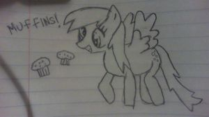 Derpy Hooves Sketch by kaylawolf91