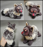 SOLD - Grey Frost masked fox spirit by goiku