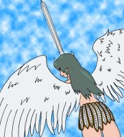 Angel Coloring... just started by Akaiko