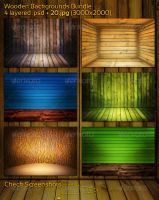 Wooden Backgrounds Bundle by mkrukowski