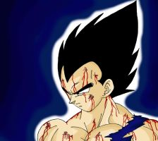 Bloody Vegeta by RaditzLover