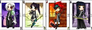 D-Gray Man Chibi Cards by sambees