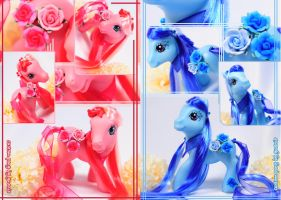 Custom Pony: Red and Blue Rose by yuanie