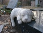 Sleeping Dog Statue by sadistik-stock