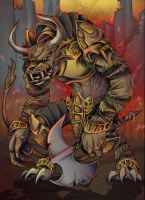 Guild Wars: Charr Warrior by JeffyP