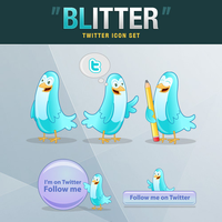 Twitter Icon Set - Blitter by hongkiat