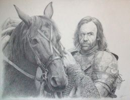 Sandor with Stranger by Aguilas
