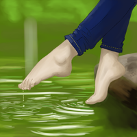 Toes in the water by Nicolaas-G