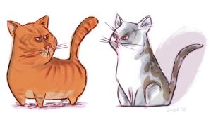 My cats by JeffVictor