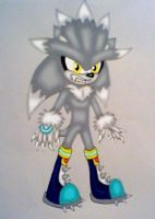 Silver the Werehog by GothNebula