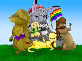 GAY ANIMAL RIGHTS by Shrineheart