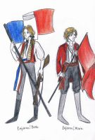 Enjolras in two versions by xxIgnisxx