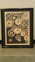Clockwork lino print final product by silent-assassin-XIII