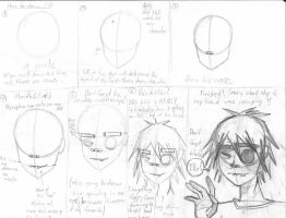 How to Draw 2D of Gorillaz by silverowl19