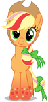 Applejack - Rainbowfied from Group Shot by CaliAzian