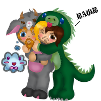 Huggle Time with Dino Seth by Fallonkyra