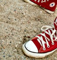 red converse by RothermRebeka