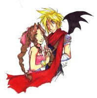 cloud and aeris by medli