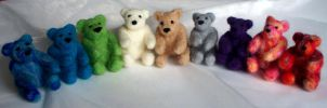 Felted Teddies by Sumosami