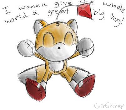 Tails Doll Hug by GirGrunny