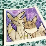 Umbreon and Eevee by yamihp7