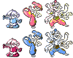 Meditite Family GSC Sprites by Axel-Comics
