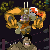 AT: The Determined Wrestler of Love by RB9