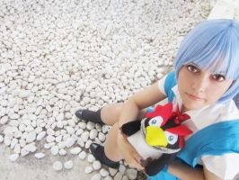 Rei and Pen Pen. by NynaeveCosplay