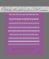 Cute Pixel Lace Photoshop Brushes by Coby17