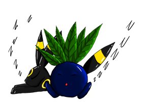 Oddish and Umbreon by enyce122