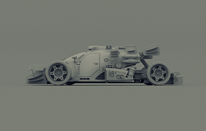 turboHybrid 02.03 clay render by popoff