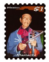 Mariachi Stamp by Willihelm