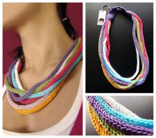 tutti-frutti necklace by rosachicolate