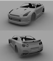 Nissan GTR W.I.P by Tom-3D