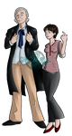 The First Doctor and Susan Foreman by DynastyGoddess