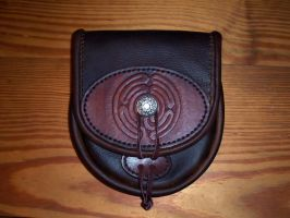 Labyrinth Pouch Front by GrandGothicLeather